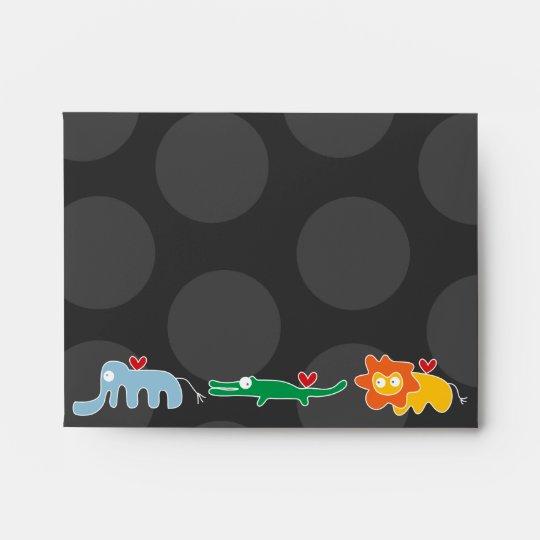 Cute Cartoon Animals Family Kids Custom Envelope