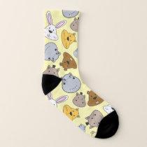 Cute Cartoon Animals Portrait Pattern Socks
