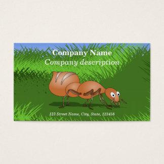 Cute Cartoon Ant Business Card