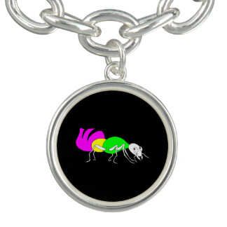 Cute Cartoon Ant With Bright Coloured Abdomen Bracelets