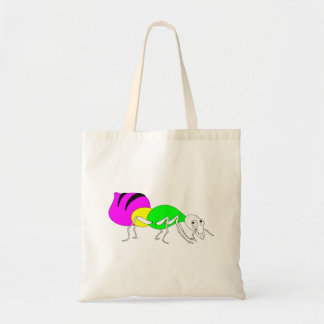 Cute Cartoon Ant With Bright Coloured Abdomen Budget Tote Bag