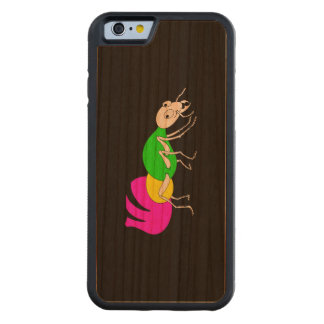 Cute Cartoon Ant With Bright Coloured Abdomen Carved Cherry iPhone 6 Bumper Case