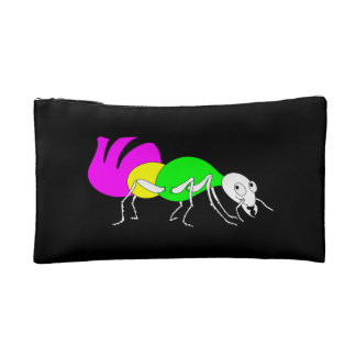 Cute Cartoon Ant With Bright Coloured Abdomen Cosmetic Bag