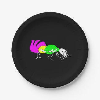 Cute Cartoon Ant With Bright Coloured Abdomen Paper Plate