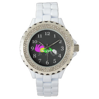 Cute Cartoon Ant With Bright Coloured Abdomen Watches