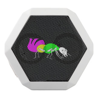 Cute Cartoon Ant With Bright Coloured Abdomen White Bluetooth Speaker