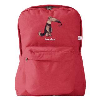 cute cartoon anteater backpack