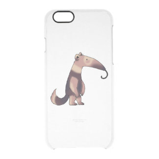 cute cartoon anteater clear iPhone 6/6S case