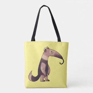 cute cartoon anteater tote bag