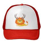 Cute Cartoon Antlered Lion Hat