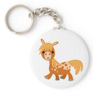 Cute Cartoon Appaloosa Pony Keychain keychain