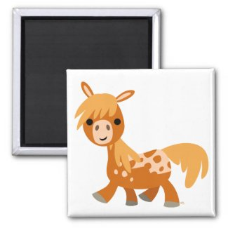 Cute Cartoon Appaloosa Pony magnet magnet