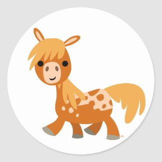Cute Cartoon Appaloosa Pony sticker sticker