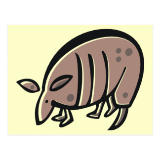 Cute Cartoon Armadillo Postcard