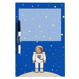 Cute Cartoon Astronaut Photo Costume Template Dry Erase Whiteboards