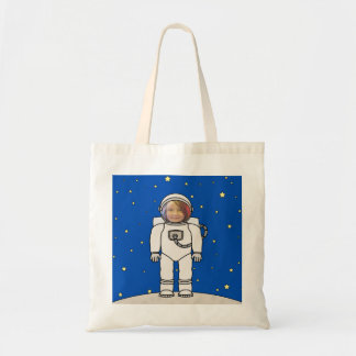 Cute Cartoon Astronaut Photo Costume Template Tote Bag