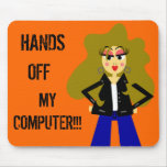 Cute Cartoon Attitude Girl Mousepad
