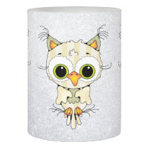 cute cartoon autumn owl led candle