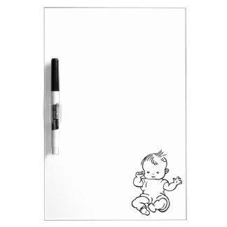 Cute Cartoon Baby Birth Congratulations Dry-Erase Board