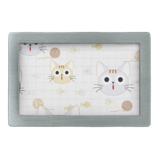Cute cartoon baby cat kitty kitten charactor funny rectangular belt buckle