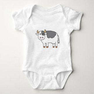 Cute Cartoon Baby Cow Baby Bodysuit
