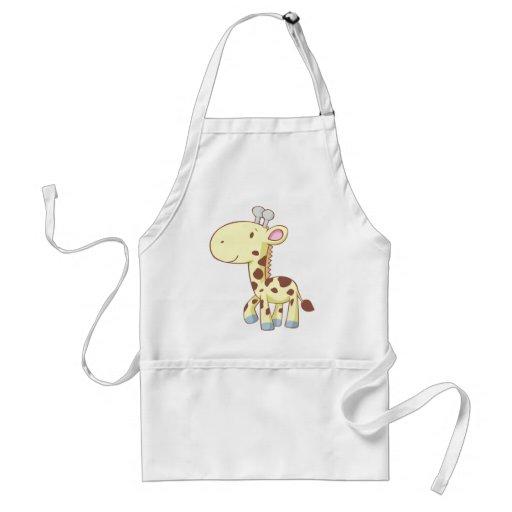 Cute Cartoon Baby Giraffe Shirts Aprons