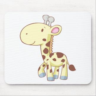 Cute Cartoon Baby Giraffe Shirts Mouse Pad