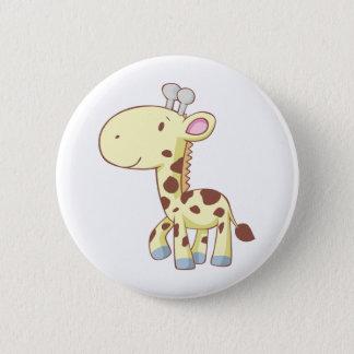 Cute Cartoon Baby Giraffe Shirts Pinback Button