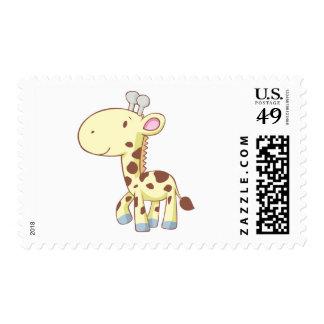 Cute Cartoon Baby Giraffe Shirts Postage Stamps