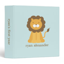 Cute Cartoon Baby Lion Binder