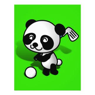 Cute Cartoon Baby Panda Bear Golfing Full Color Flyer