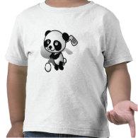 Cute Cartoon Baby Panda Bear Golfing T Shirts