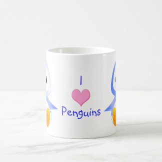 Cute Cartoon Baby Penguin in Blue Coffee Mug