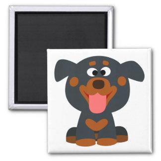 Cute Cartoon Baby Rottweiler Magnet