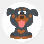 Cute Cartoon Baby Rottweiler Sticker