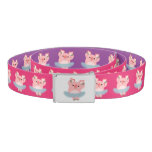Cute Cartoon Ballerina Pig Casual Belt