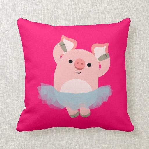 Cute Cartoon Ballerina Pig Pillow