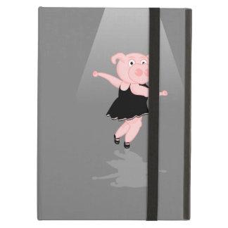 Cute Cartoon Ballet Dancing Pig Case For iPad Air