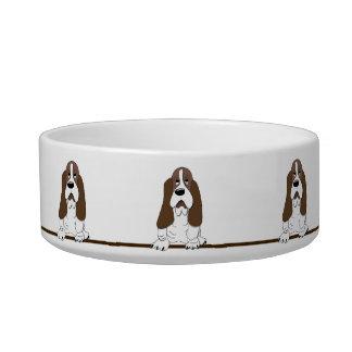 Cute Cartoon Basset Hound Dogs Pet Bowl