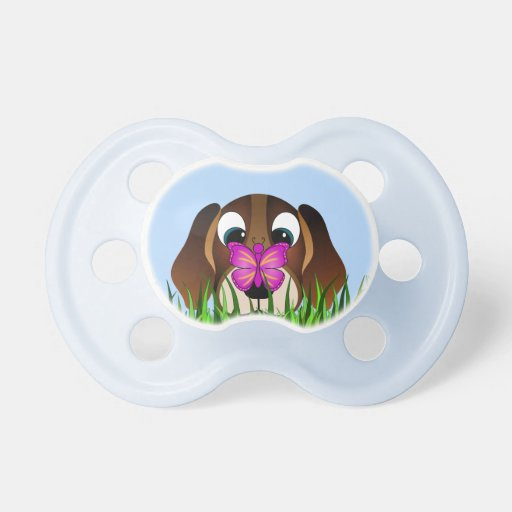 Cute Cartoon Beagle Dog Blue Baby Pacifiers Zazzle