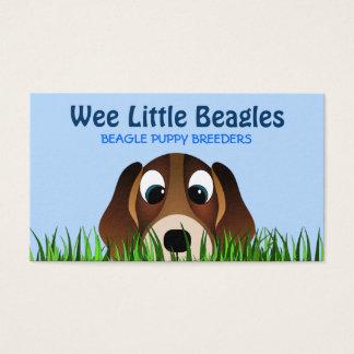 Cute Cartoon Beagle Puppy Dog Breeder Business Card