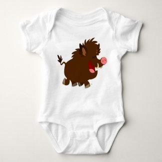 Cute Cartoon Beaming Wild Boar Baby Creeper