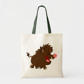 Cute Cartoon Beaming Wild Boar Bag