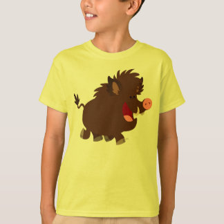 Cute Cartoon Beaming Wild Boar Children T-Shirt