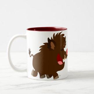 Cute Cartoon Beaming Wild Boar Mug