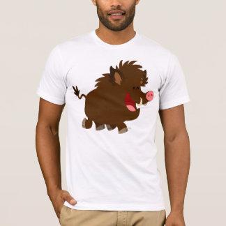 Cute Cartoon Beaming Wild Boar T-Shirt