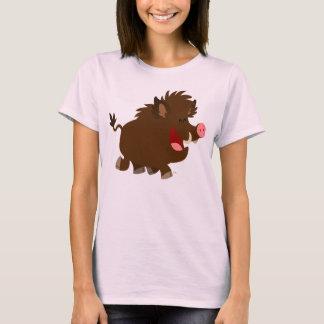Cute Cartoon Beaming Wild Boar Women T-Shirt