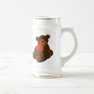 Cute cartoon bear beer stein