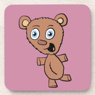 Cute Cartoon Bear Beverage Coaster