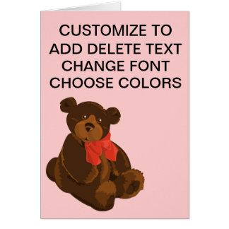 Cute cartoon bear card